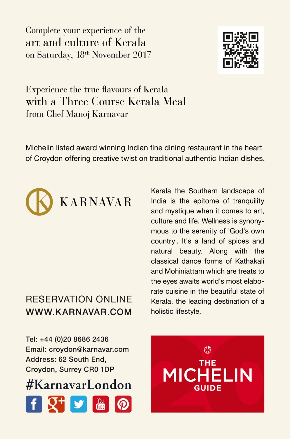 Experience Kerala in South London Offer